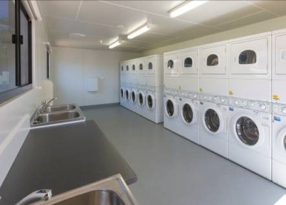 demountable laundry building